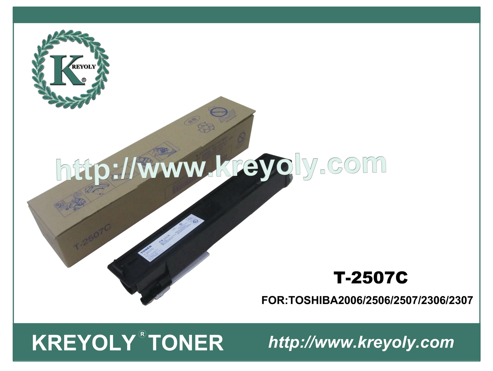 Compatible Toner Cartridge for Toshiba T-2507C