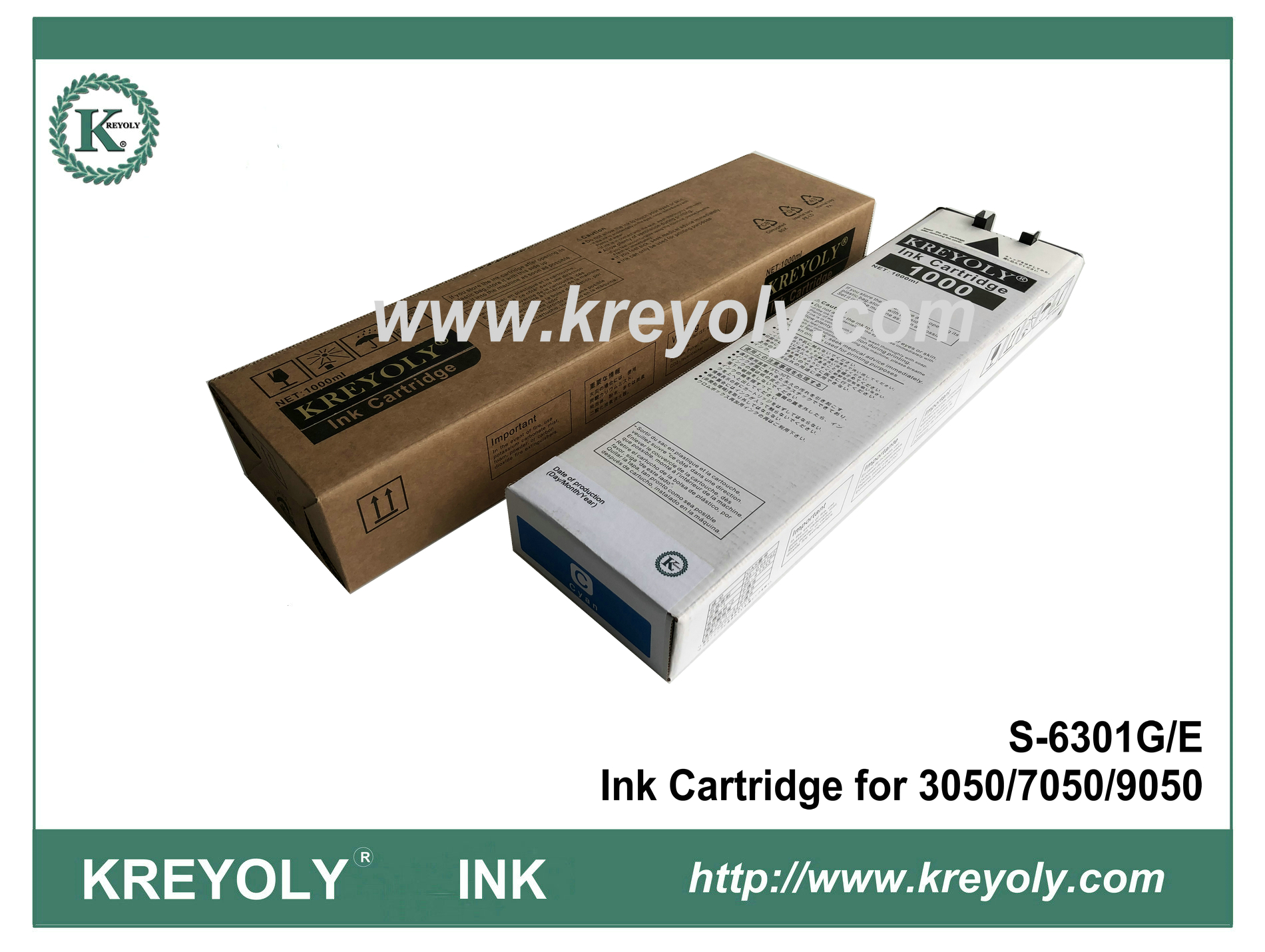 Riso S-6301 Cyan Ink Cartridge for ComColor 3050 7050 9050 Inkjet Machine