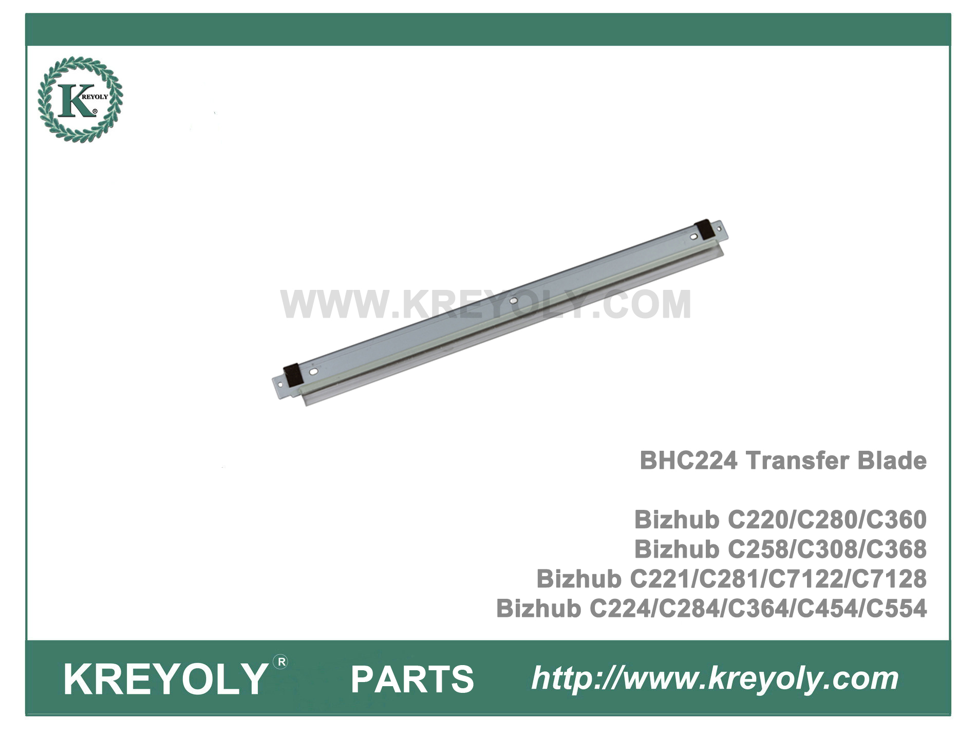 BHC224 Transfer Belt Cleaning Blade for Konica Minolta Bizhub C224 C454 C221 C258 C360