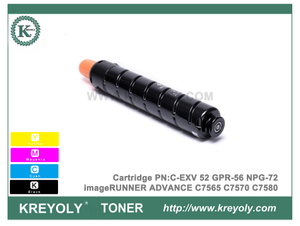 New Canon C-EXV52 GPR56 NPG72 Toner Cartridge For imageRUNNER ADVANCE C7565 C7570 C7580
