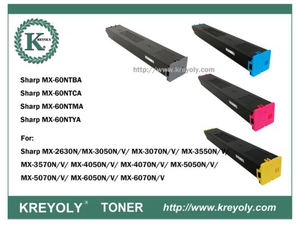 MX-60 Color Toner for Sharp MX-M2630/3050/3070/3550/2570/4550/5050/5070/6050/6070N