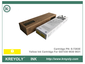 S-7283 Yellow Ink Cartridge for Riso ComColor GD9630 GD9631 GD7330 InkJet Machine