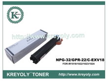Black Toner for Canon GPR-22/NPG-32/C-EXV18