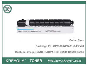 NPG71 GPR55 C-EXV51 Toner Cartridge for imageRunner ADVANCE C5560 C5550 C5540 C5535