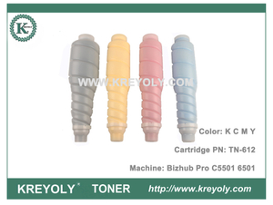 Color Toner Cartridge TN612 for Koncia Minolta Bizhub Pro C5501 C6501