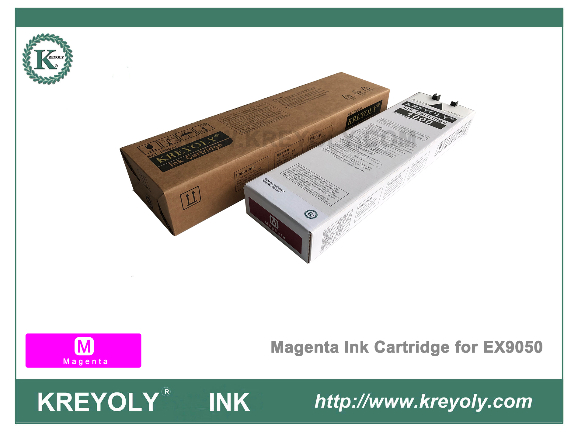 Color Magenta Ink Cartridge for Riso ComColor Orphis EX9050 InkJet Machine