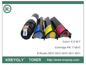 Color Toner Cartridge T-281C for Toshiba E Studio 281C 351C 451C 3511 4511