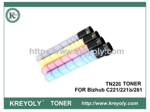 TN220 TONER CARTRIDGE FOR KONICA MINOLTA Bizhub C221 C221S C281