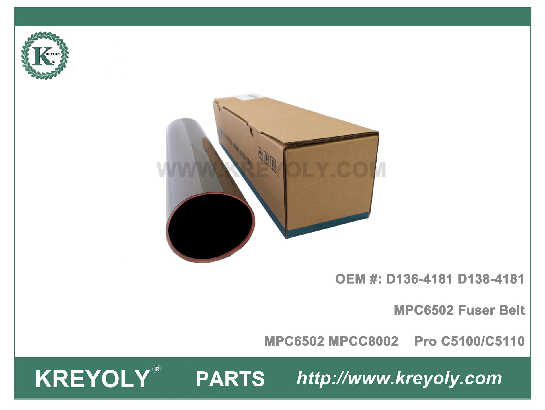 D136-4181 For Rioch MP C6502 C8002 Pro C5100 C5110 Fuser Belt D138-4181
